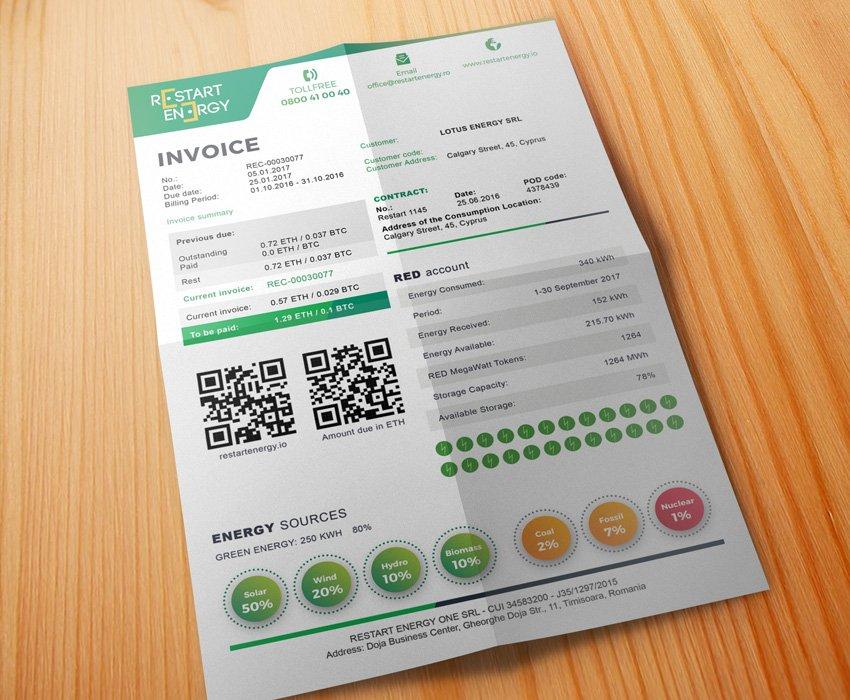 Restart Energy  RED Invoice